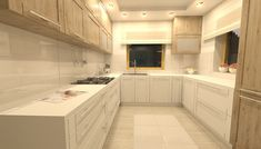 Projekt kuchni z drzwiami płycinowymi. Kitchen design with panel doors. Alcove, Bathtub, Kitchen Cabinets, Home Decor, Standing Bath, Bathtubs, Decoration Home, Room Decor, Bath Tube