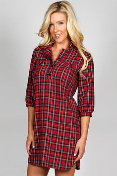 GroopDealz | Button Down Plaid Tunic - 2 Colors! http://www.groopdealz.com/invite/886283