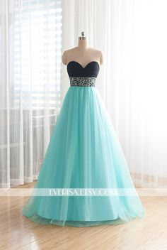 Hey, I found this really awesome custom-made-beaded-bodice-mint-blue-prom