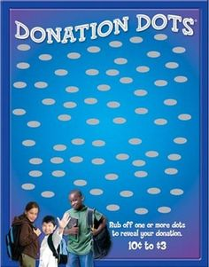 Donation Dots - Education - Over profit to you fundraiser Winter Wonderland Ball, Silent Auction Donations, Breast Cancer Fundraiser, Scratch Off Cards, School Fundraisers, New Job, Dots, Education, Boxing Club