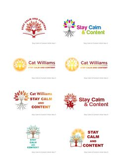 Stay Calm and Content working concept logo design #logo #design #corporate #CatWilliams #StayCalmandContent