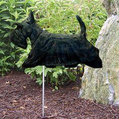 Scottish Terrier Outdoor Hand Painted Garden Sign