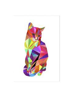 Karl Kater Kunstdruck DIN A4 Katze von Miss Cooper's Lounge auf DaWanda.com