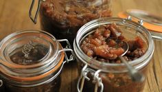 Spiced apple chutney recipe - BBC - Food - Recipes - This apple chutney has a tangy, sweet flavour which is perfect with cheeses such as cheddar, cheshire or white stilton.