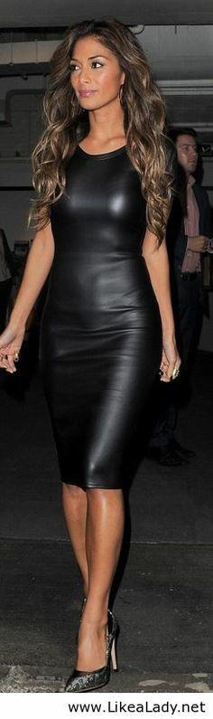 Nicole Scherzinger in black dress