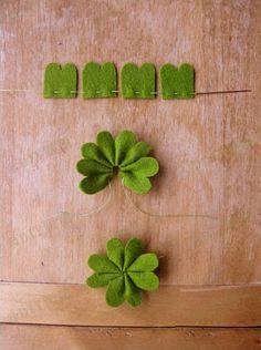 Easy felt tutorial- four leaf clover