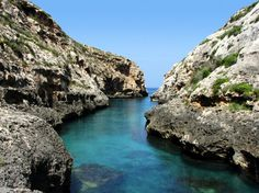 Wied il-Għasri is a popular with the divers, who like to explore the underwater caves