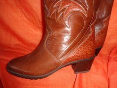 Vintage Stiefel - Stiefel*vintage*braun*Leder*6,5*40*39*ARA - ein Designerstück von SweetSweetVintage bei DaWanda