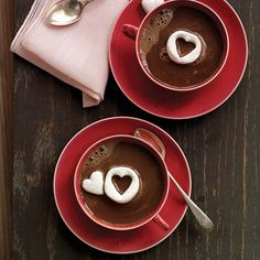Hot Chocolate and heart-shaped marshmallows will keep you and your sweetheart warm!