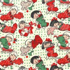 Christmas Retro Stockings  Michael Miller Holiday by StitchinStash, $9.25