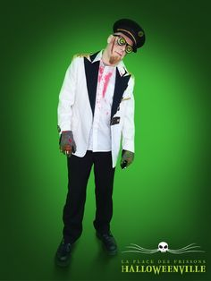 Costume de capitaine de navire zombie pour l'Halloween