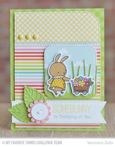 Some Bunny, Blueprints 14 Die-namics, Blueprints 22 Die-namics, Inside & Out Stitched Rounded Square STAX Die-namics, Layered Leaves Die-namics, Somebunny Die-namics, Stitched Fishtail Flags STAX Die-namics, Tall Grassy Edges Die-namics - Veronica Zalis  #mftstamps