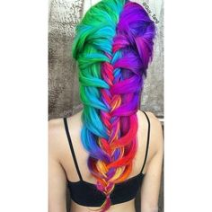 Rainbow hair ❤ liked on Polyvore featuring hair