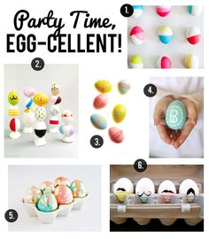 Cute & creative ways to decorate your Easter eggs via Brock Paper Scissors