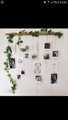Polaroid Photo Booth. Take a photo and hang it up! DIY