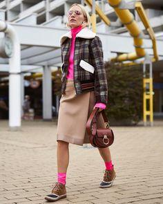 "b278037f48c Viktoria Rader on Instagram  ""A recipe for Autumn 🍂   urban vibes plus a  splash of pink and comfy feet"
