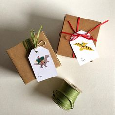 Last minute gift wrapping idea, these dinosaur gift tags will make someone happy! It's printable! Link in profile.