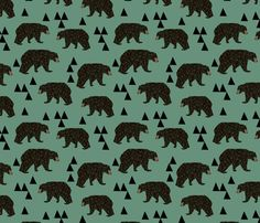 Geometric Bear fabric // andrea lauren on Spoonflower