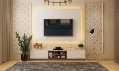 Wall Mounted Tv Unit, Wall Units, Modern Classic Bedroom, White Tv Unit, Tv Wall Decor, Tv Unit Design, Box Bed, Design Your Dream House, Bed With Drawers