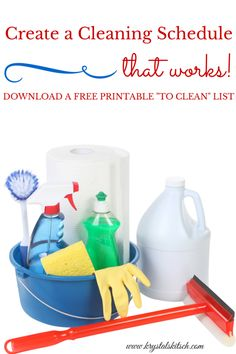Skip the overwhelm and create a cleaning schedule to stay on task! Download this FREE cleaning checklist printable to get your home clean in a hurry!