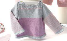 Layette 60 Printemps / Été | 8 Creative Knitting, Knitting For Kids, Crochet For Kids, Baby Knitting, Knit Crochet, Hood Pattern, Bebe Baby, Sweater Knitting Patterns, City Chic