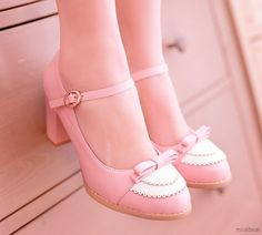 Shoes fit for a princess! Pink Ankle Strap Pumps