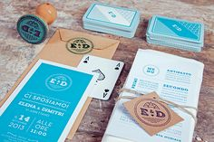 Wedding Invitations E&D by Dry Design, via Behance