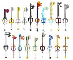 Kingdom Hearts Keyblades by o0DemonBoy0o.deviantart.com on @deviantART