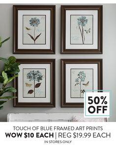 169353 Touch of Blue Framed Art Prints