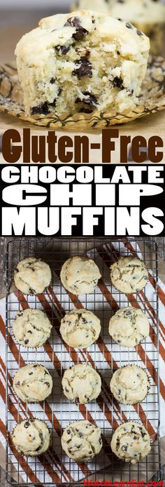 Enjoy these Gluten-free Chocolate Chip Muffins as a breakfast treat, daytime snack or delicious dessert.