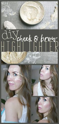 DIY Highlighter for brows and cheeks  joyful rat race