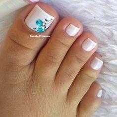 Pedicure Designs, Pedicure Nail Art, Toe Nail Designs, Manicure And Pedicure, Pretty Toe Nails, Cute Toe Nails, Pretty Toes, Gorgeous Nails, Toe Nail Color
