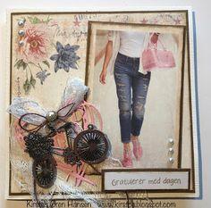 Kirstens Hobbyblogg: Bursdagskort Copic Markers, Tim Holtz, Frame, Cards, Design, Decor, Decoration, Decorating, A Frame
