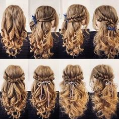 Easy Hairstyles For Long Hair, Braided Hairstyles, Wedding Hairstyles, Crazy Hairstyles, Fashion Hairstyles, Hairstyle Ideas, Pretty Hairstyles, Hair Ideas, Fall Hairstyles
