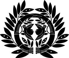 Date Masamune family crest Mais Vintage Mermaid, Mermaid Art, Mermaid Paintings, Japanese Family Crest, Crest Tattoo, Date Masamune, Samurai Love Ballad Party, Samurai Tattoo, Demon Tattoo