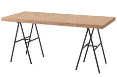Sinnerlig Table - Cork and Metal Table - IKEA