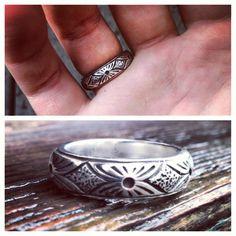 mens silver wedding ring