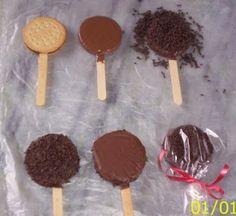 Manualidades Virshy: paletas de galletas rellenas