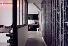 Interiors by the City: { Un Loft parisien | style industriel revisité } #wallpaper