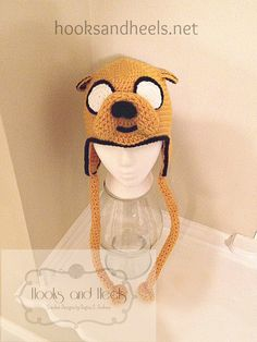 jake Adventure Time Jake ear flap beanie