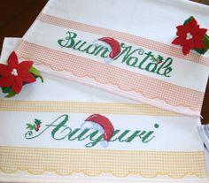 Asciugapiatti natalizi - regalo a Sonia e Sabina