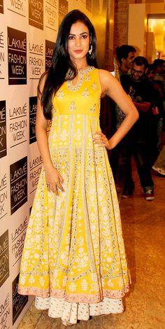 Sonal in Yellow Anarkali #salwaar kameez #chudidar #chudidar kameez #anarkali #anarkali suits #dress #indian #hp #outfit #shaadi #bridal #fashion #style #desi #designer #wedding #gorgeous #beautiful