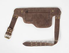 Hip Pack Leather Utility Belt Bomber Brown Largest от WCCouture