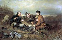 1871 |perov | Охотники на привале. 1871. Холст, масло. 119х183 ГТГ. Василий Григорьевич Перов