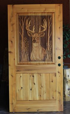 Carved Deer Door Products I Love Pinterest Doors