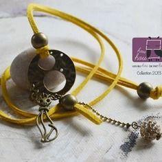 Sautoir color jaune