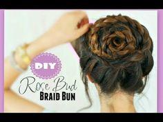 ★ROSE BRAID BUN TUTORIAL | CUTE HAIRSTYLES FOR PROM - YouTube
