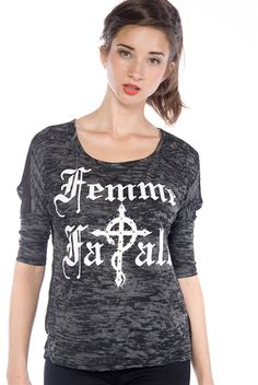 Femme Fatale Mesh Back Top - Black from Teen Bell at Lucky 21