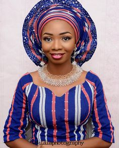 Be INSPIRED and pass on the INSPIRATION!  #bridalinspiration  Makeup by @Rashielatouch  Aso Oke and bead by Adeniji Bimbo
