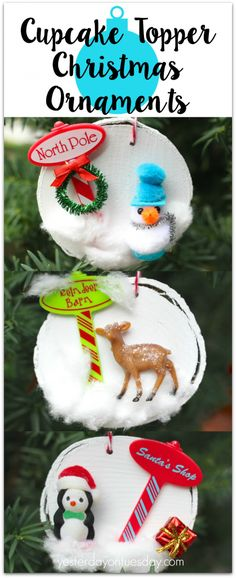 Cupcake Topper Christmas Ornaments   Yesterday On Tuesday